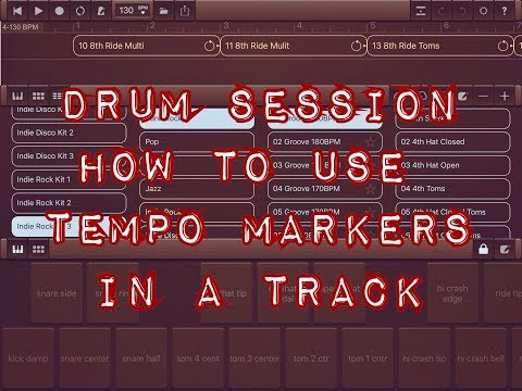 DRUM SESSION - How To Set Tempo Changes In A Track - iPad Tutorial