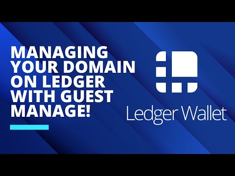 Managing your domain on Ledger with Guest Manage!