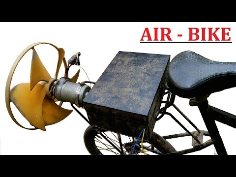 30000 RPM - 48v 500W DC Motor Powered ebike ( Air Bike ) DIY