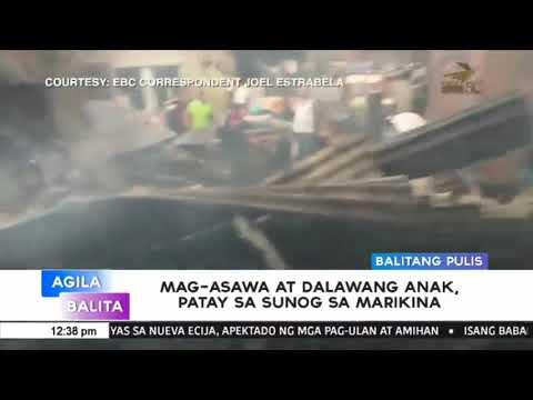 Magasawa ata dalawang anak, patay sa sunog sa Marikina