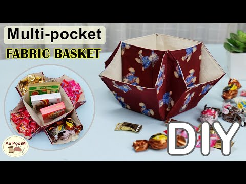 DIY-Multi-pocket-fabric-basket