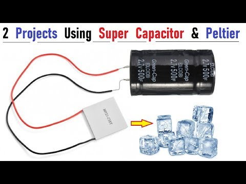 2 Amazing Project Ideas with 12V Super Capacitor & Peltier DIY