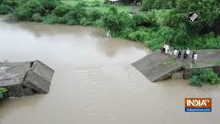 Newly-built bridge collapses in Gujarat's Junagadh following heavy rainfall - INDIATV