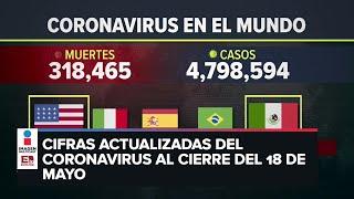 Estadísticas de coronavirus en el mundo (18 de mayo)