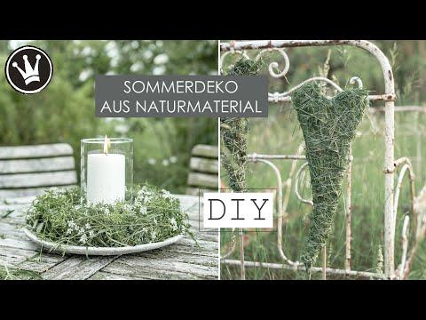 DIY - KRANZ & HERZ aus Gräser | Sommerdeko für Balkon und Terrasse | SUPER EASY | DekoideenReich