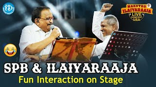 SP Balasubramanyam backslashu0026 Ilayaraja : Rare moments on stage || Maestro Ilaiyaraaja's Musical Concert - IDREAMMOVIES