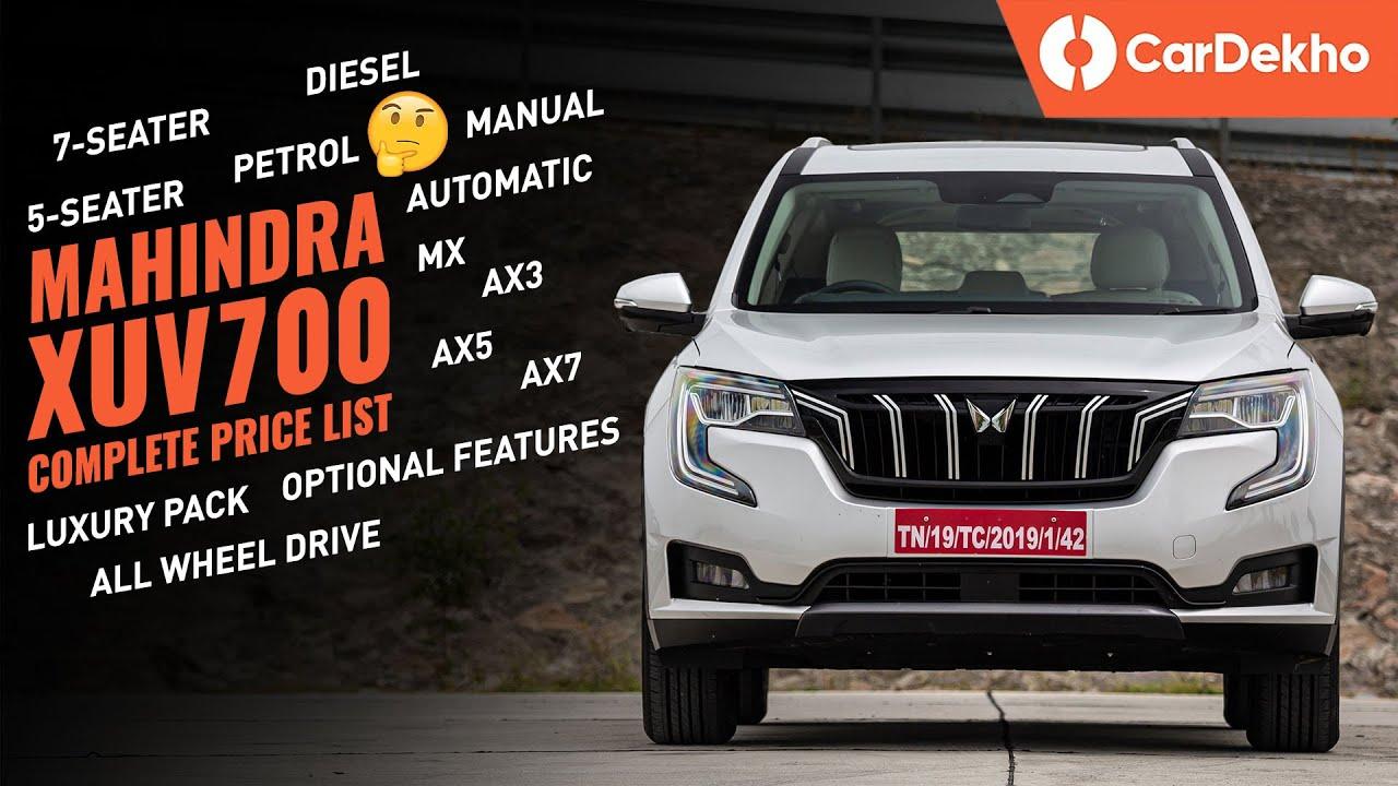 Mahindra XUV700 Price In India: COMPLETE PRICE LIST 5-seater & 7-seater | ये SAFARI से सस्ती कैसे?