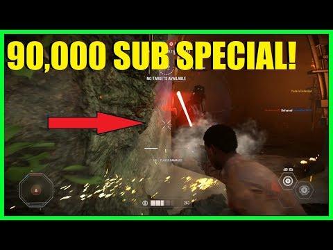 Star Wars Battlefront 2 - 90,000 SUBSCRIBER SPECIAL! (Kinda) | Melee killed VaderXD 3 games of HvsV!