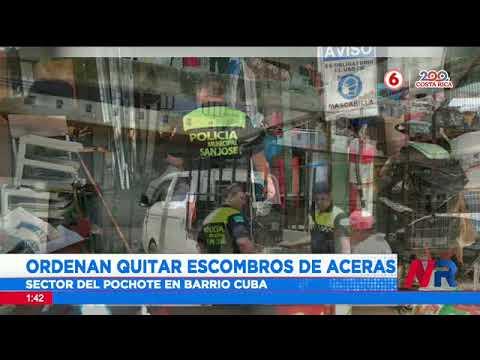 Ordenan quitar escombros de aceras en Barrio Cuba