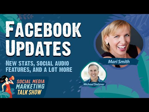 New Facebook stats, Facebook social audio features, and a lot more