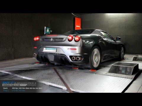 Reprogrammation Moteur Ferrari F430 4.3V8 490hp (Réel: 483hp) @ 512hp par BR-Performance