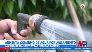 Aumenta consumo de agua por aislamiento y medidas sanitarias