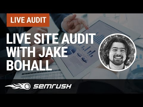 Live Site Audit with Jake Bohall