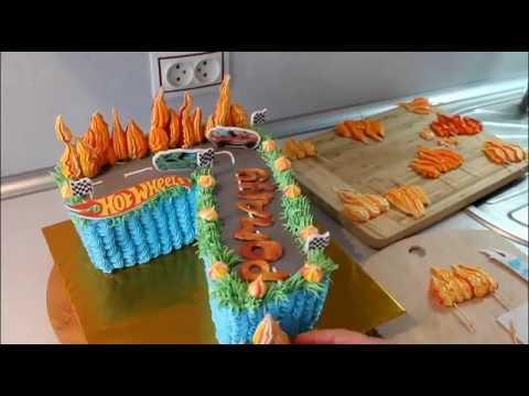 Торт Цифра 7 Как Украсить Торт Детский Торт Хот Вилс photo
