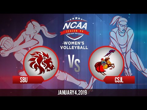 NCAA 94 Women's Volleyball: SBU vs. CSJL   January 4, 2019