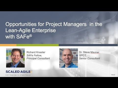 WEBINAR | Opportunities for Project Managers in the Lean Agile Enterprise with SAFe®