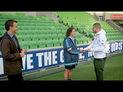 James Troisi from Melbourne Victory surprises young fan Tyson Scarcella