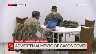 Sedes Cochabamba advierte con un incremento de casos positivos de Covid-19 por bloqueos y protestas