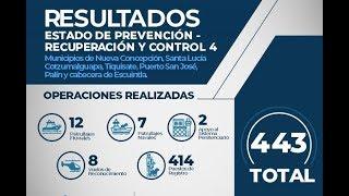 Resultados del estado de prevención en el departamento de Escuintla