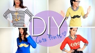 anneorshine – Make Mustache & Cute Printed Sweaters or T-shirts {Easy DIY}