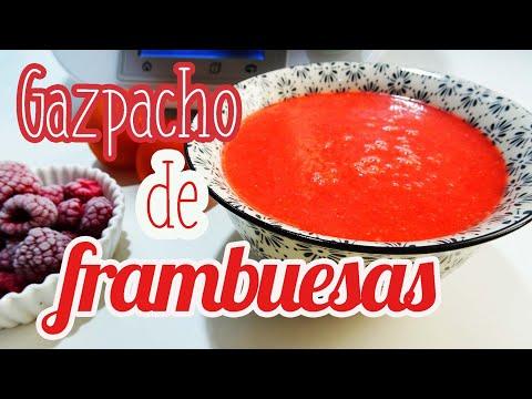 Gazpacho de frambuesas Thermomix