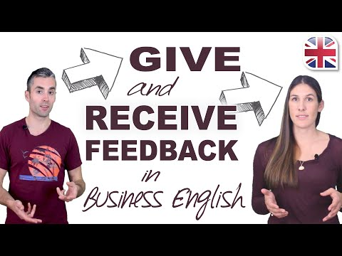 How to Give and Receive Feedback in English - Business English Lesson