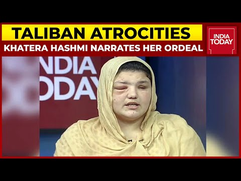 Ex-Afghan Cop Khatera Hashmi, Who Was Beaten By Taliban, Narrates Her Ordeal | Taliban Takeover