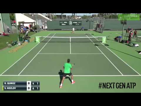 Kozlov Fires Between The Legs Hot Shot At Tempe Challenger 2017
