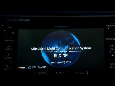 How To use the Multimedia Communication System on your Mitsubishi Outlander Plug-in Hybrid (English)