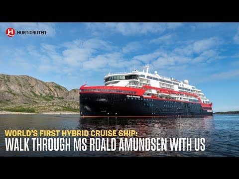 MS Roald Amundsen: Walk around world's first hybrid cruise ship with Wayne