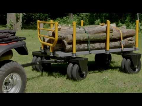 Bannon 3-in-1 Convertible Logging Wagon - 1,800-Lb. Capacity, 72in.L x 38in.W