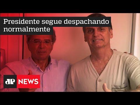 Bolsonaro recebe visita de Paulo Guedes em hospital onde está internado