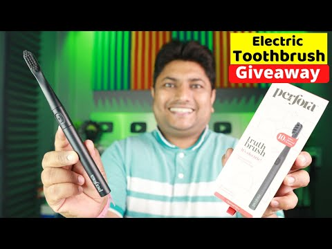 Giveaway | Budget Electric Toothbrush | Perfora Electric Toothbrush Unboxing & Review