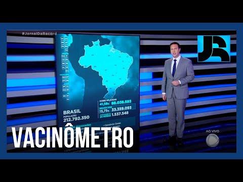 Vacinômetro: 88.038.593 (41,58%) brasileiros receberam a primeira dose