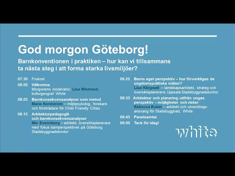 Barnkonventionen i praktiken - Godmorgon Göteborg #Whitefrukost