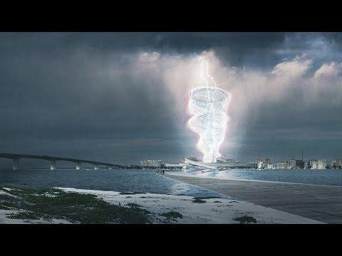 Brooks + Scarpa pavilion concept captures lightning | Architecture | Dezeen