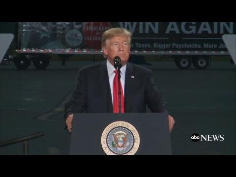 President Donald Trump remarks on tax reform in Harrisburg, Va.