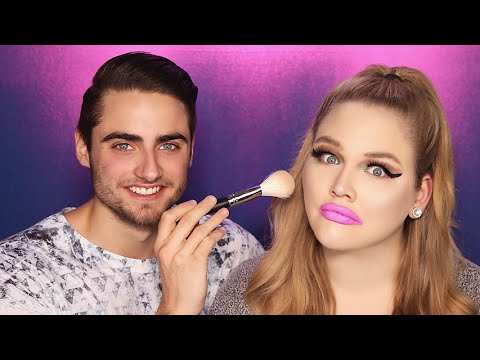 BOYFRIEND DOES MY MAKEUP | NikkieTutorials