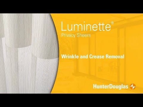 Luminette® Privacy Sheers - Wrinkles and Crease Removal - Hunter Douglas