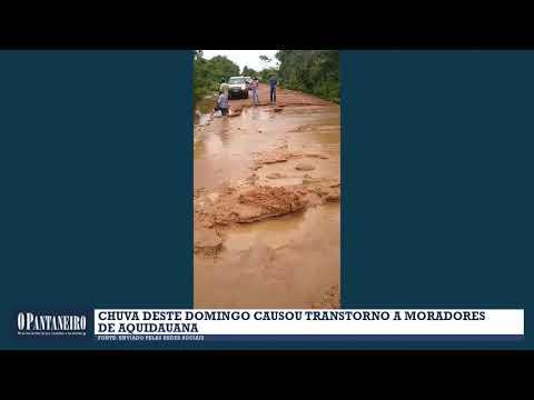 Chuva deste domingo causou transtorno a moradores de Aquidauana