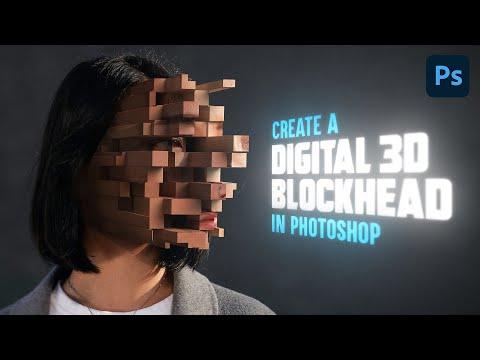 Pixelated 3d Blockhead Effect | Photoshop 2021 Tutorial