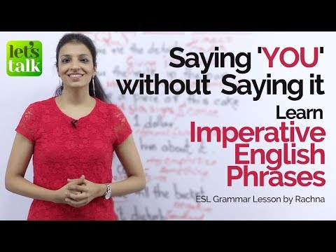 connectYoutube - Imperative English sentences in passive voice | Say 'YOU' without saying it | English Grammar Lesson