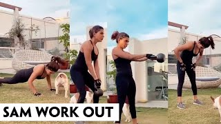 Actress Samantha Akkineni Doing Workouts At Home | IndiaGlitz Telugu Movies - IGTELUGU