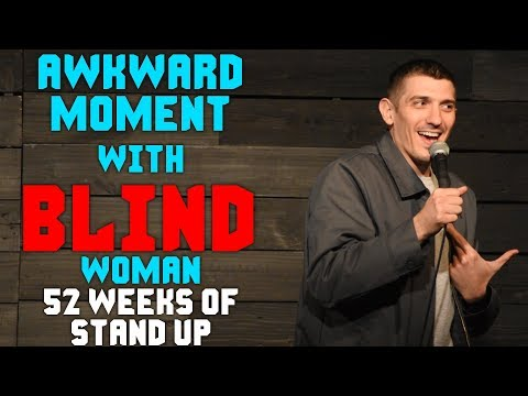 connectYoutube - Awkward Moment with BLIND audience member - Andrew Schulz - Stand up comedy