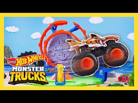 The SWAMP JUNGLE'S DANGEROUS BOOBY TRAPS! 😱🌲 | Monster Trucks Tournament of Titans | @Hot Wheels