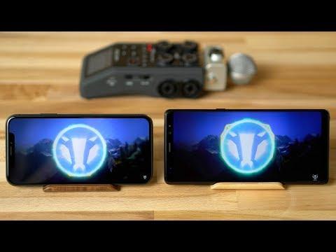 iPhone X vs Galaxy Note 8 Speaker Comparison