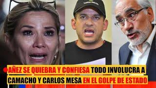 Jeanine Áñez se quiebra y confiesa todo: involucra a Carlos Mesa y Camacho en el Golpe de Estado