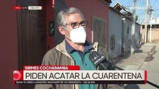 Sirmes Cochabamba pide a la población acatar la cuarentena para evitar contagios de Covid-19