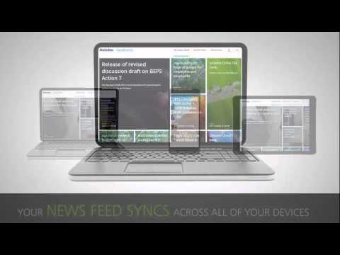 Deloitte tax@hand news feed personalization demo