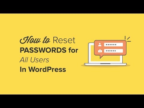 How to Reset Passwords for All Users in WordPress